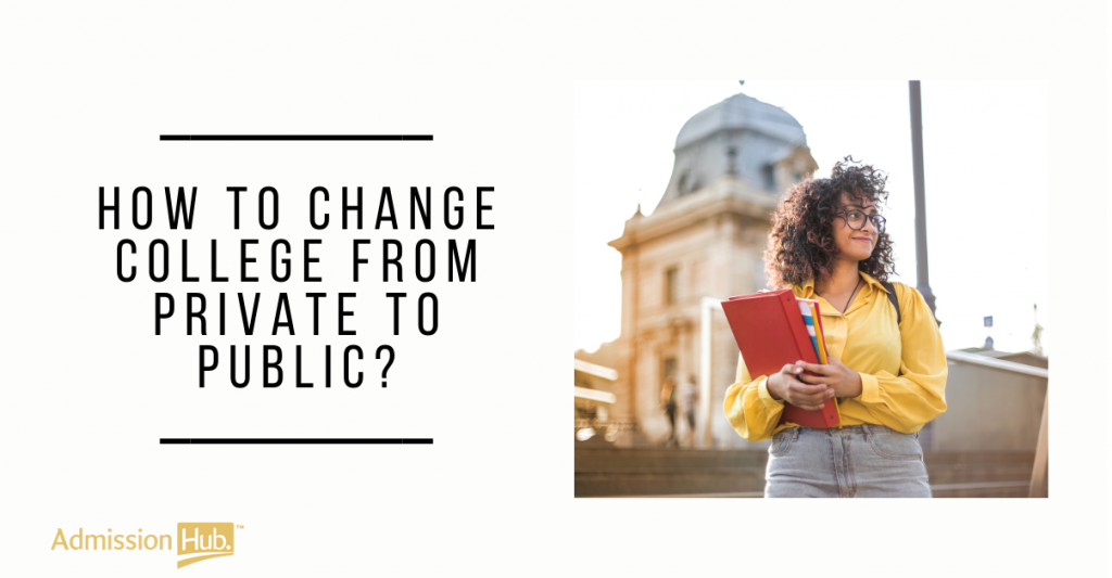 How to Change college from private to public